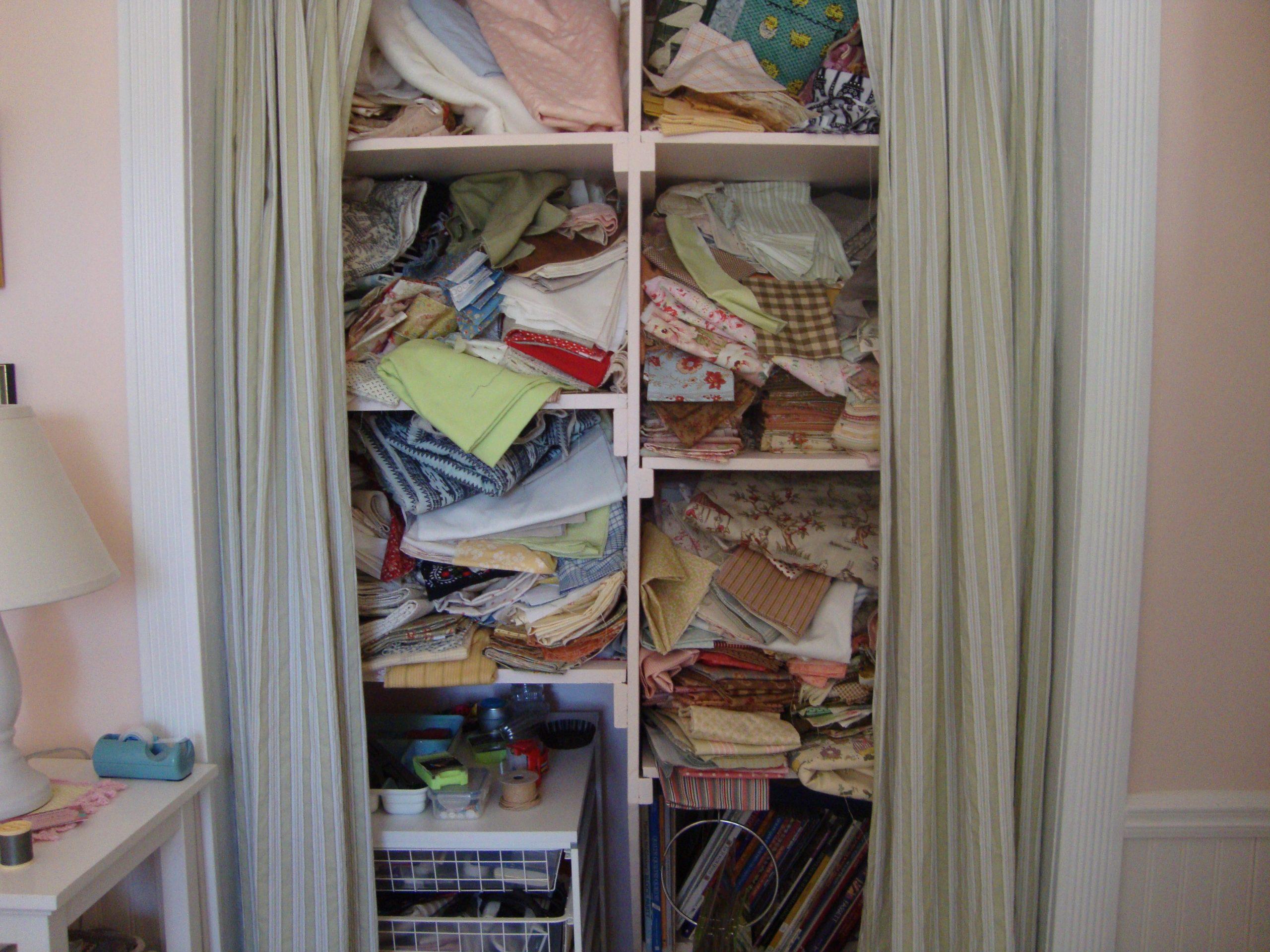 craft closet before