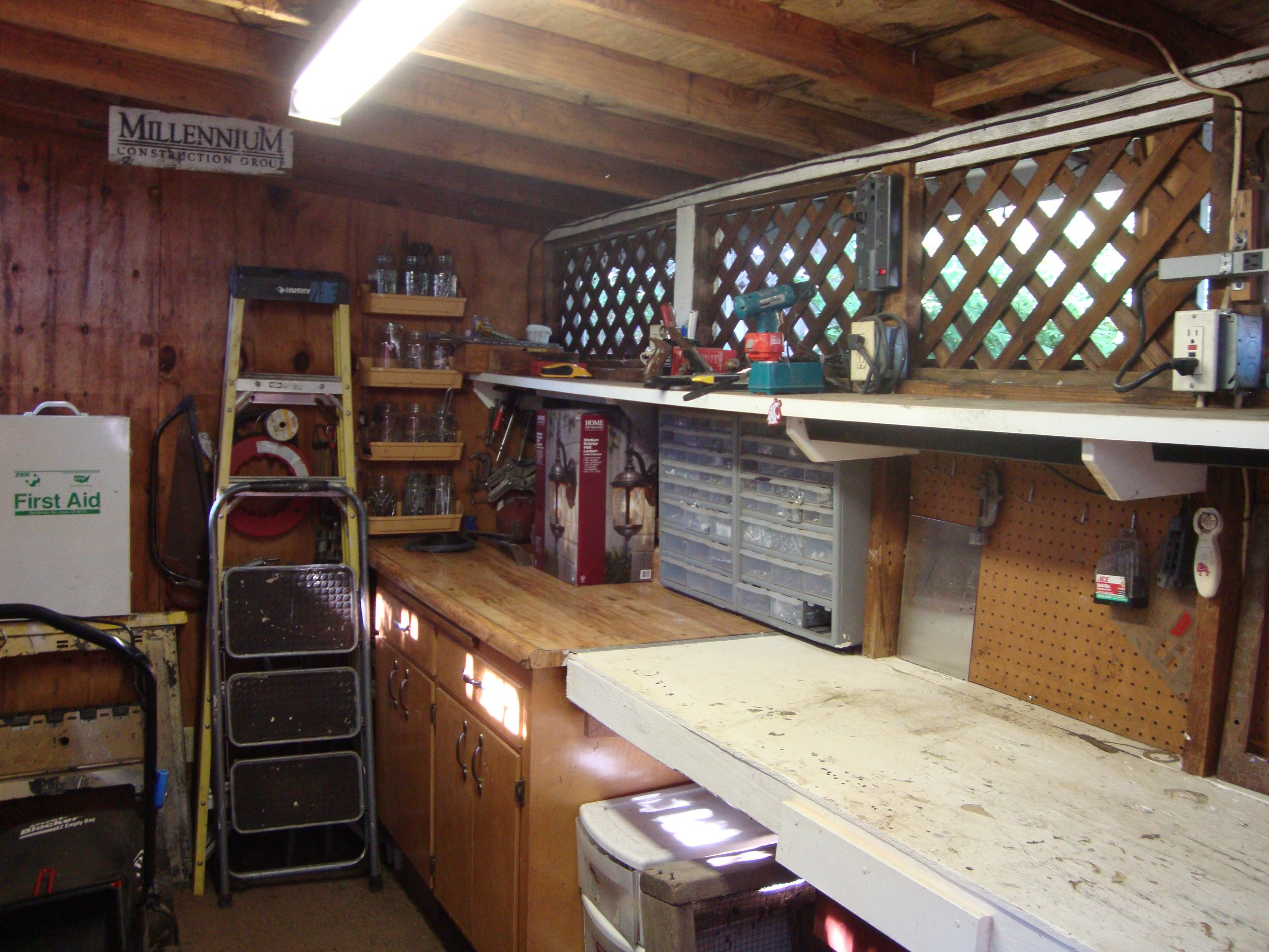work shed after